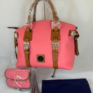 NWT Dooney & Bourke Domed Pebble Leather Satchel